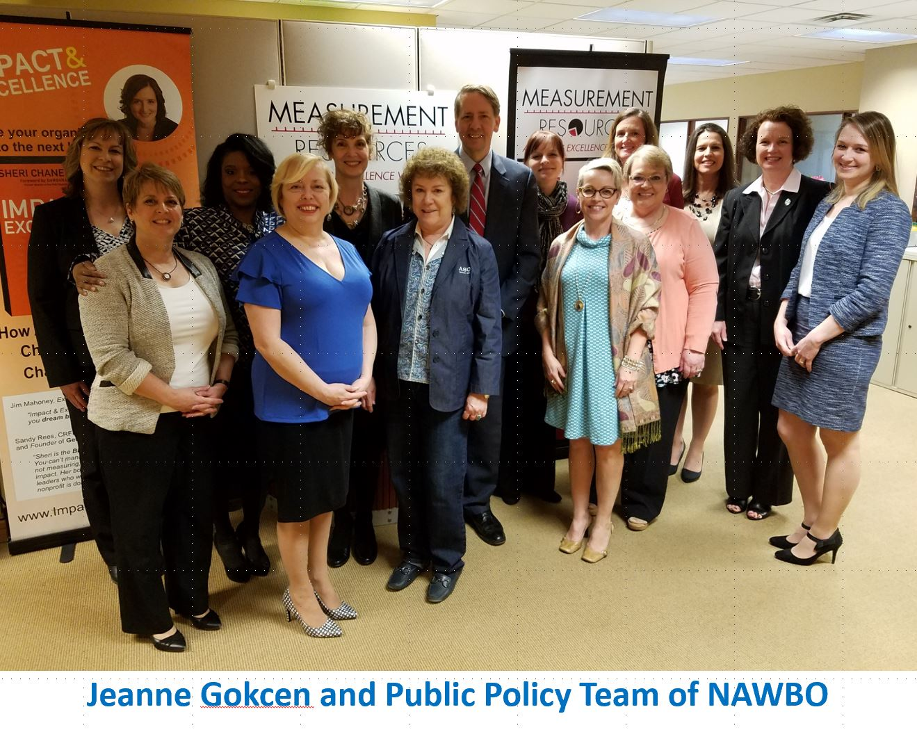 Nawbo and Jeanne Public Policy group photo